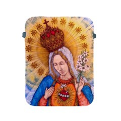 Immaculate Heart Of Virgin Mary Drawing Apple Ipad 2/3/4 Protective Soft Cases by KentChua