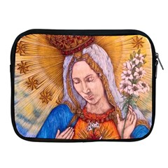 Immaculate Heart Of Virgin Mary Drawing Apple Ipad 2/3/4 Zipper Cases by KentChua
