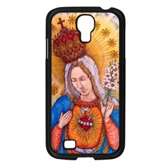 Immaculate Heart Of Virgin Mary Drawing Samsung Galaxy S4 I9500/ I9505 Case (black) by KentChua