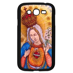 Immaculate Heart Of Virgin Mary Drawing Samsung Galaxy Grand Duos I9082 Case (black) by KentChua