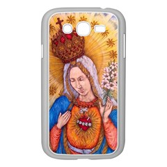 Immaculate Heart Of Virgin Mary Drawing Samsung Galaxy Grand Duos I9082 Case (white) by KentChua