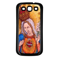 Immaculate Heart Of Virgin Mary Drawing Samsung Galaxy S3 Back Case (black) by KentChua