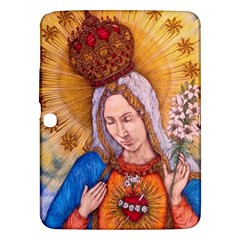Immaculate Heart Of Virgin Mary Drawing Samsung Galaxy Tab 3 (10 1 ) P5200 Hardshell Case  by KentChua