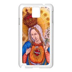 Immaculate Heart Of Virgin Mary Drawing Samsung Galaxy Note 3 N9005 Case (white) by KentChua