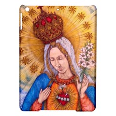 Immaculate Heart Of Virgin Mary Drawing Ipad Air Hardshell Cases by KentChua