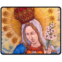 Immaculate Heart Of Virgin Mary Drawing Double Sided Fleece Blanket (medium)  by KentChua