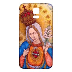 Immaculate Heart Of Virgin Mary Drawing Samsung Galaxy S5 Back Case (white) by KentChua