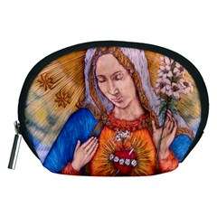 Immaculate Heart Of Virgin Mary Drawing Accessory Pouches (medium)  by KentChua