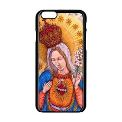 Immaculate Heart Of Virgin Mary Drawing Apple Iphone 6/6s Black Enamel Case by KentChua