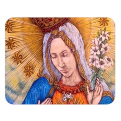 Immaculate Heart Of Virgin Mary Drawing Double Sided Flano Blanket (large)  by KentChua