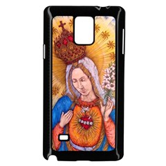 Immaculate Heart Of Virgin Mary Drawing Samsung Galaxy Note 4 Case (black) by KentChua
