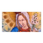 Immaculate Heart Of Virgin Mary Drawing Satin Shawl Front