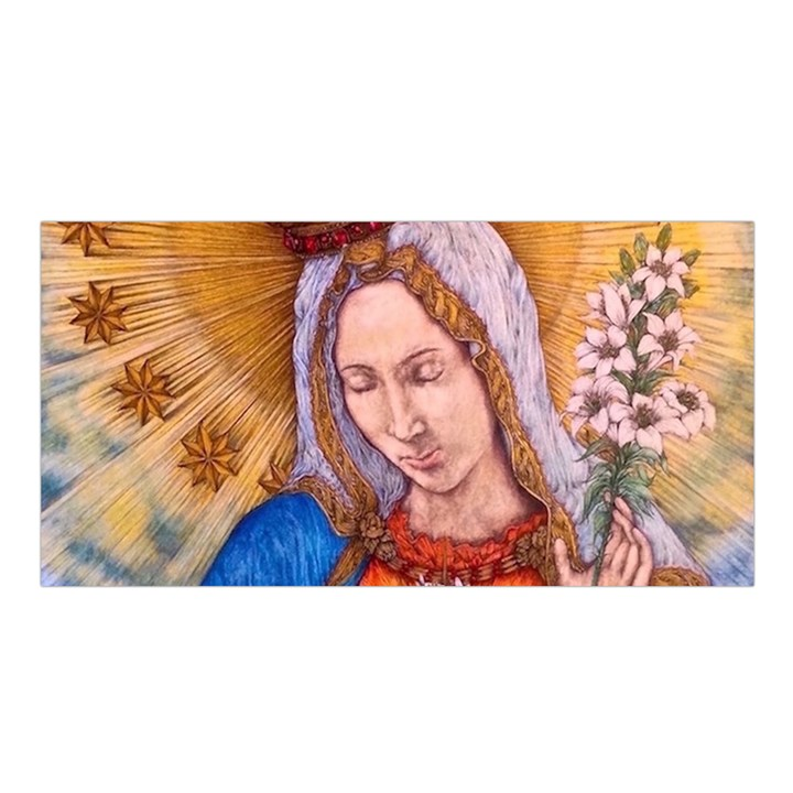 Immaculate Heart Of Virgin Mary Drawing Satin Shawl