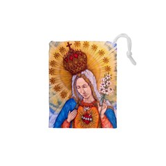 Immaculate Heart Of Virgin Mary Drawing Drawstring Pouches (xs)  by KentChua
