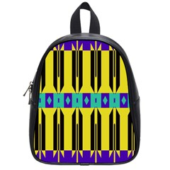 Rhombus And Other Shapes Pattern 			school Bag (small) by LalyLauraFLM