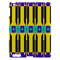 Rhombus And Other Shapes Pattern 			apple Ipad 3/4 Hardshell Case by LalyLauraFLM