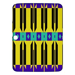 Rhombus And Other Shapes Pattern 			samsung Galaxy Tab 3 (10 1 ) P5200 Hardshell Case by LalyLauraFLM