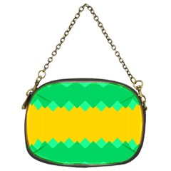 Green Rhombus Chains 	chain Purse (two Sides) by LalyLauraFLM