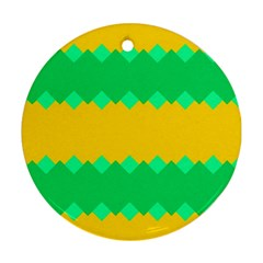 Green Rhombus Chains 			ornament (round)