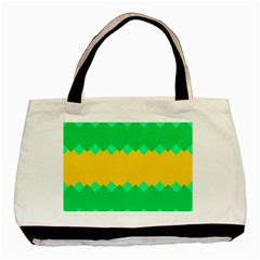 Green Rhombus Chains 			basic Tote Bag by LalyLauraFLM