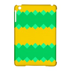 Green Rhombus Chains 			apple Ipad Mini Hardshell Case (compatible With Smart Cover) by LalyLauraFLM