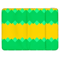Green Rhombus Chains 			samsung Galaxy Tab 7  P1000 Flip Case by LalyLauraFLM