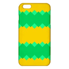 Green Rhombus Chains 			iphone 6 Plus/6s Plus Tpu Case by LalyLauraFLM