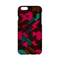 Brown Pink Blue Shapes 			apple Iphone 6/6s Hardshell Case by LalyLauraFLM