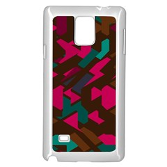 Brown Pink Blue Shapes 			samsung Galaxy Note 4 Case (white) by LalyLauraFLM