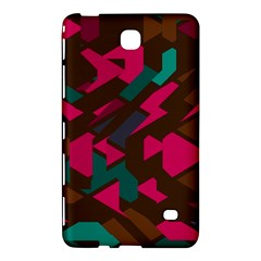 Brown Pink Blue Shapes 			samsung Galaxy Tab 4 (7 ) Hardshell Case by LalyLauraFLM