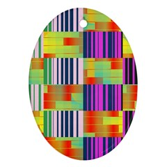 Vertical And Horizontal Stripes 			ornament (oval) by LalyLauraFLM