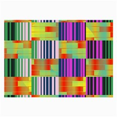 Vertical And Horizontal Stripes 			large Glasses Cloth by LalyLauraFLM