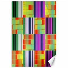 Vertical And Horizontal Stripes 			canvas 20  X 30  by LalyLauraFLM
