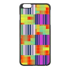 Vertical And Horizontal Stripes 			apple Iphone 6 Plus/6s Plus Black Enamel Case by LalyLauraFLM