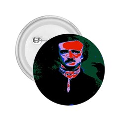 Edgar Allan Poe Pop Art  2 25  Buttons by icarusismartdesigns