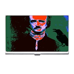Edgar Allan Poe Pop Art  Business Card Holders by icarusismartdesigns