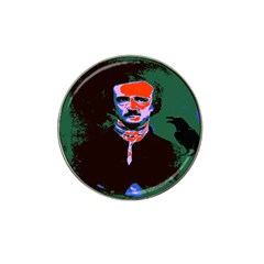 Edgar Allan Poe Pop Art  Hat Clip Ball Marker by icarusismartdesigns