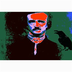 Edgar Allan Poe Pop Art  Collage 12  X 18  by icarusismartdesigns