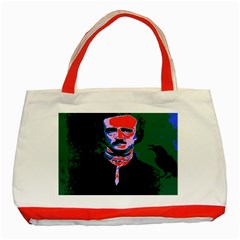 Edgar Allan Poe Pop Art  Classic Tote Bag (red)  by icarusismartdesigns