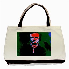 Edgar Allan Poe Pop Art  Basic Tote Bag (two Sides)  by icarusismartdesigns