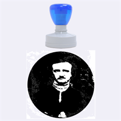 Edgar Allan Poe Pop Art  Rubber Round Stamps (large) by icarusismartdesigns