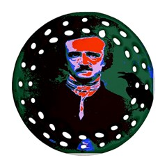 Edgar Allan Poe Pop Art  Round Filigree Ornament (2side) by icarusismartdesigns