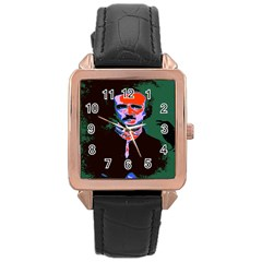 Edgar Allan Poe Pop Art  Rose Gold Watches by icarusismartdesigns