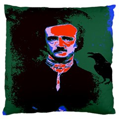 Edgar Allan Poe Pop Art  Large Flano Cushion Cases (two Sides)  by icarusismartdesigns