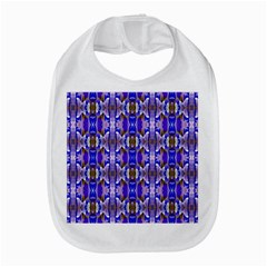 Blue White Abstract Flower Pattern Bib by Costasonlineshop