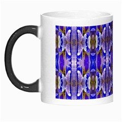 Blue White Abstract Flower Pattern Morph Mugs by Costasonlineshop