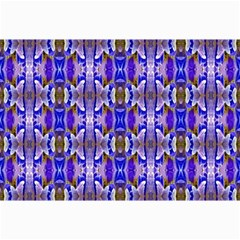 Blue White Abstract Flower Pattern Collage 12  X 18