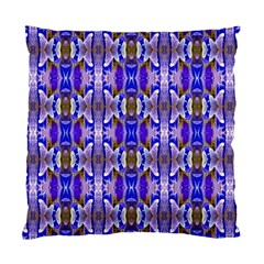 Blue White Abstract Flower Pattern Standard Cushion Cases (two Sides)  by Costasonlineshop