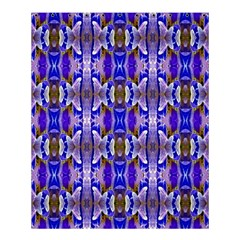 Blue White Abstract Flower Pattern Shower Curtain 60  X 72  (medium)  by Costasonlineshop