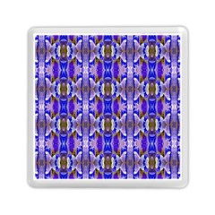 Blue White Abstract Flower Pattern Memory Card Reader (square)  by Costasonlineshop